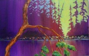 Arbutus at Sunset Acrylic on canvas pad