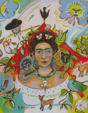Frida & Friends (2017)  24x30